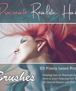 procreate hair brushes brushespack