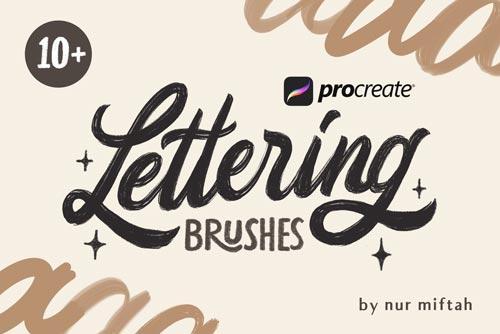 procreate lettering brushes brushespack