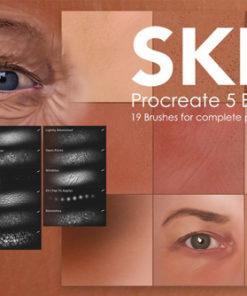 skin painting procreate brushes brushespack