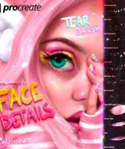 face details brushes for procreate app brushespack