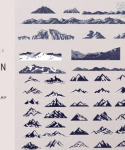 procreate mountain stamp brush brushespack