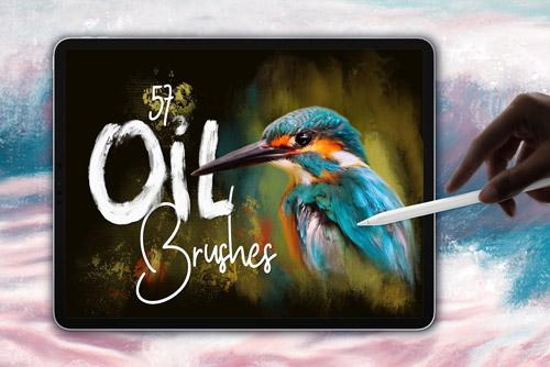 oil brushes for procreate brushespack