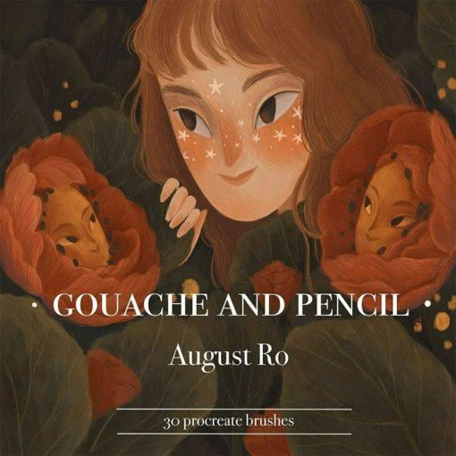 august ro procreate brushes brushespack