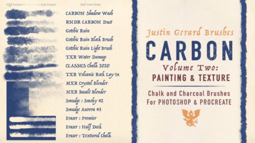 carbon brushes for procreate and photoshop ( ) brushespack