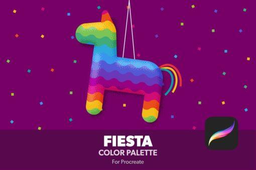 fiesta procreate color palette brushespack