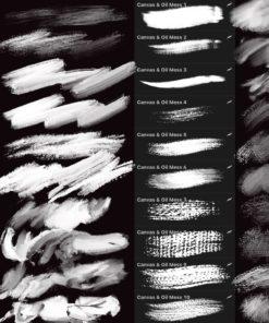 oil brushes for procreate ( ) brushespack