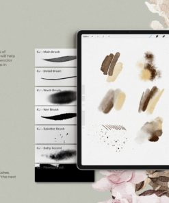 realistic procreate watercolor kit watercolor brushes for procreate brushespack