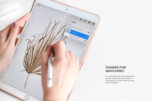 realistic procreate watercolor kit realistic watercolor for procreate brushespack