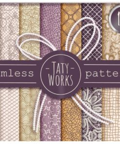 seamless patterns tatty works for procreate brushespack