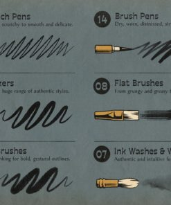 the rusty nib for procreate ( ) brushespack