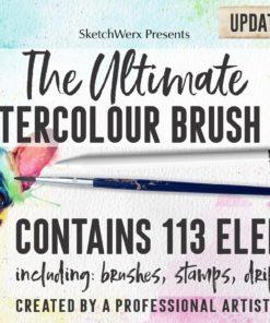 the ultimate watercolour brush pack brushespack