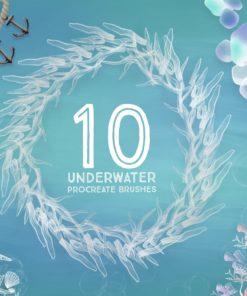 10 underwater procreate brushes download now brushespack