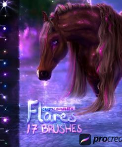 17 flare glow brushes for procreate app download now brushespack