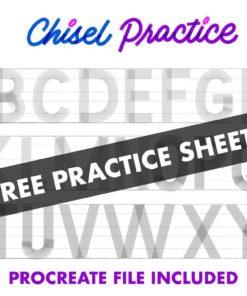 chisel brush for procreate v1.0 chiselpractice download now brushespack