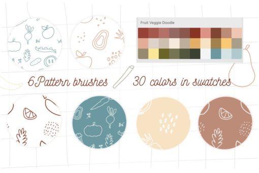 doodle fruits veggie procreate иллюстрация без названия 2021 02 25t233411.271 download now brushespack