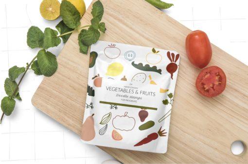 doodle fruits veggie procreate ресурс 90 download now brushespack