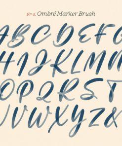 inky lettering procreate brush set 06 ombre marker procreate brush © molly suber thorpe download now brushespack