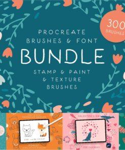 procreate brushes font bundle sale procreate brush bundle intro download now brushespack