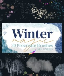 winter magic brushes for procreate download now brushespack