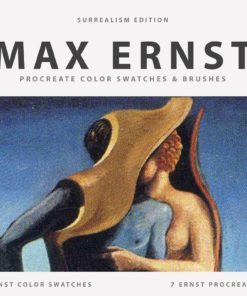 procreate brushes color swatches palette texture paintings ernst max surrealism 13 download now brushespack
