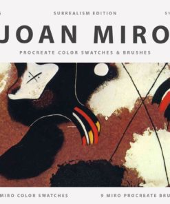 spraypaint joan miro procreate brushes color swatches graffiti artist paintings paint download now brushespack