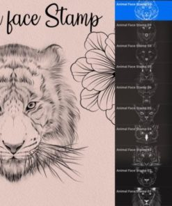 animal face stamps graphics x download now brushespack
