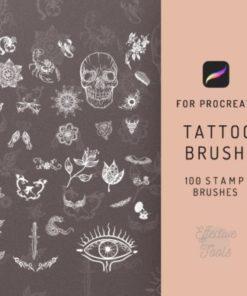 procreate tattoo brush graphics x download now brushespack