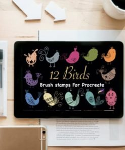 birds brush stamps for procreate graphics x download now brushespack