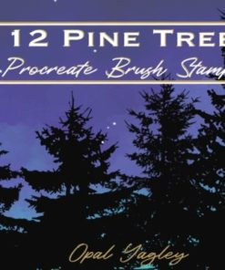 pine tree procreate brush stamps graphics x download now brushespack