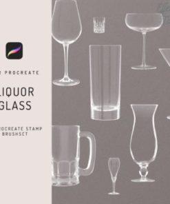 procreate liquor glass stamp brush graphics x download now brushespack