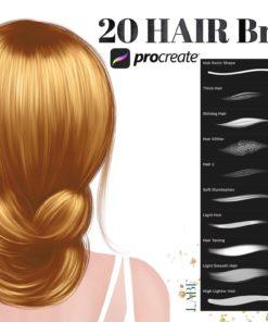 procreate hair brushes hair brush presentation download now brushespack