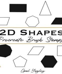d geometric shapes procreate stamps graphics x download now brushespack