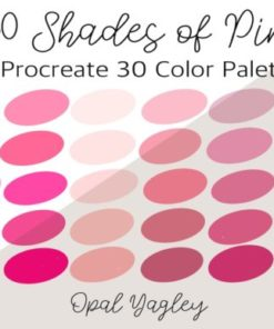 shades of pink procreate colors graphics x download now brushespack