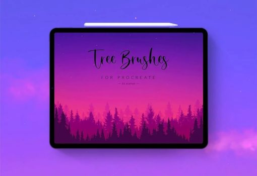 tree stamps for procreate download now brushespack