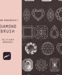 procreate diamonds stamp brushes graphics x download now brushespack