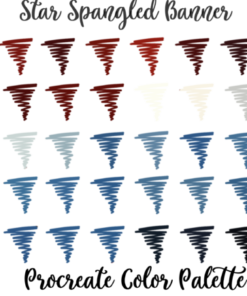 american flag procreate color palette graphics 4216204 1 1 580x435 download now brushespack