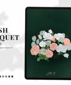 blush bouquet color paletterns graphics 6448643 1 1 580x387 download now brushespack