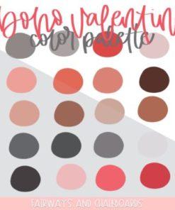boho valentine procreate color palette download now brushespack