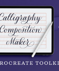 calligraphy composition maker procreate update download now brushespack