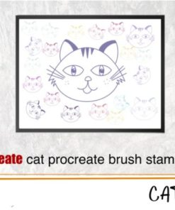 cat brush stamp for procreate graphics x download now brushespack