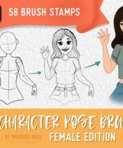 character pose brush kit graphics x download now brushespack