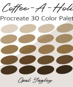 coffee aholic procreate color palette graphics x download now brushespack
