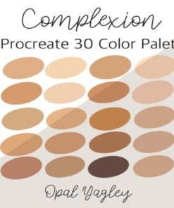 complexion procreate color palette graphics x download now brushespack