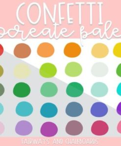 confetti procreate color palette download now brushespack