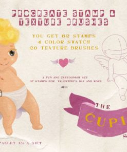 cupids procreate stamps cupids download now brushespack