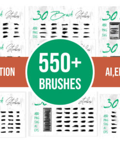 dirty art brush strokes bundle bundles fb download now brushespack