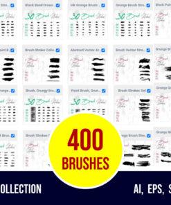 dirty grunge art brush bundle bundles download now brushespack