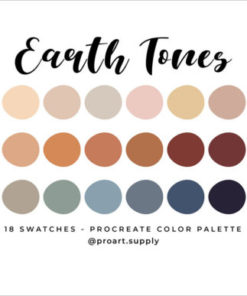 earth tones procreate color palette graphics x download now brushespack