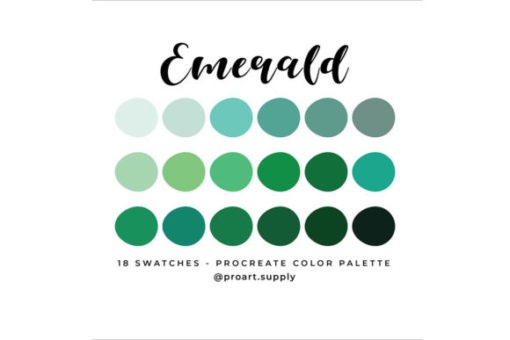 emerald procreate color palette graphics x download now brushespack