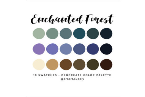 enchanted forest procreate color palette graphics x download now brushespack